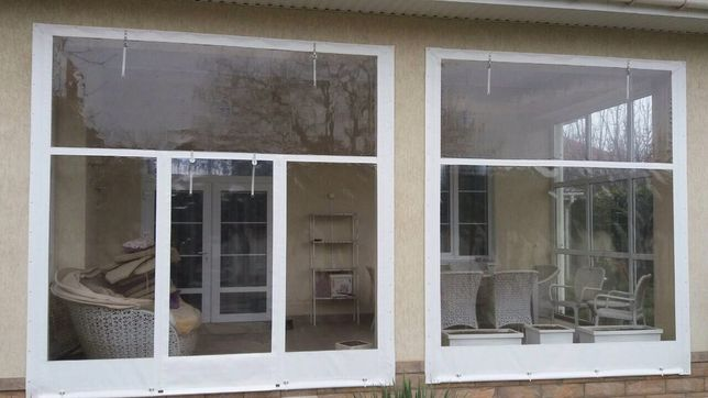 Мягкие окна из ПВХ Сумы. Мягкие окна для беседок.Мягкие окна для терра