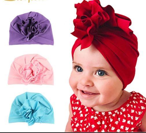 Turban, czapeczka dla dziewczynki rozmiar uniwersalny. Hit internetu