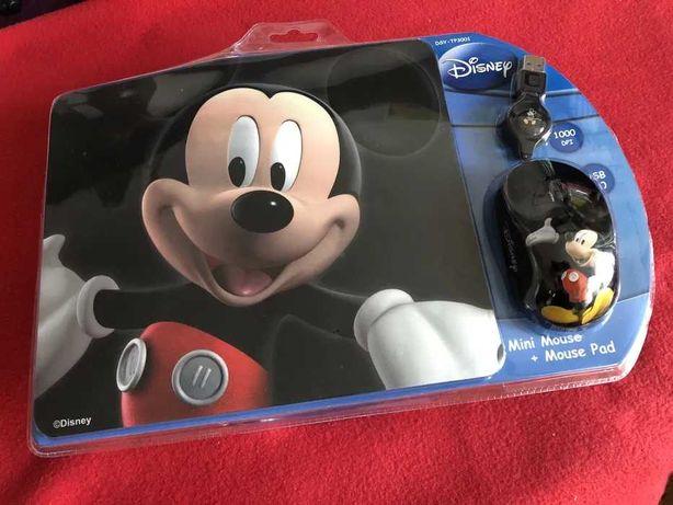 Disney Mickey Mouse - myszka komputerowa przewodowa z podkładką