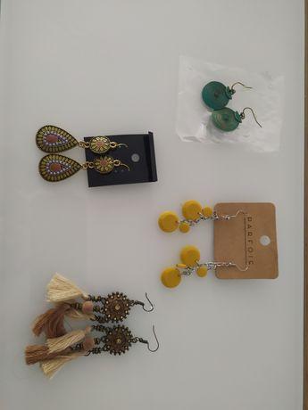 Brincos novos e semi usados