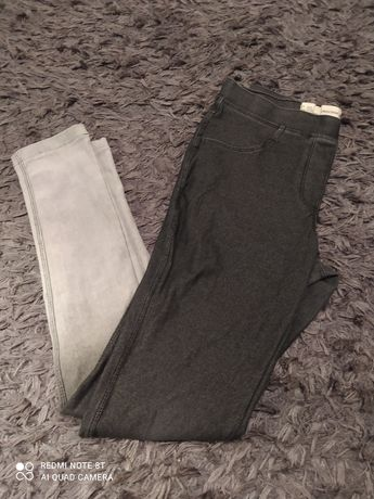 Spodnie pepperts. 146-152 czarno siwe