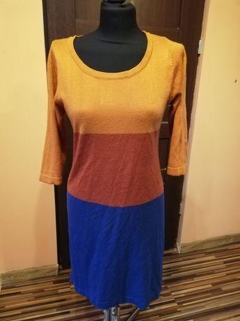 Sukienki jesienne kolory dres sweterkowe S M L XL