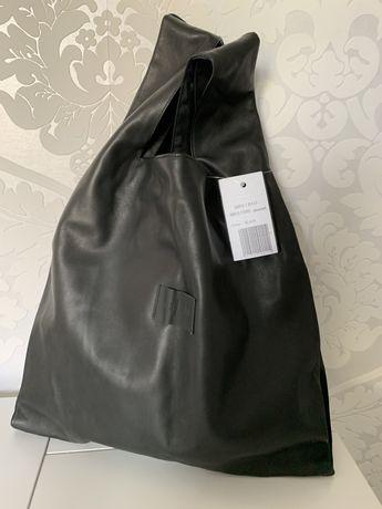 Torba czarna skórzana shopper bag elegancka