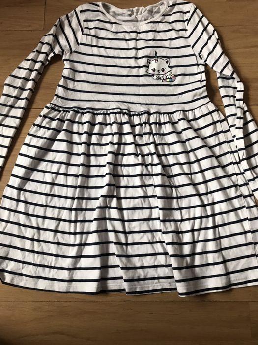 H&m sukienki w paski jednorozec unicorn 122/128 Chocianowice - image 1