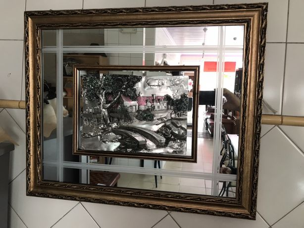 Quadro com espelho como novo