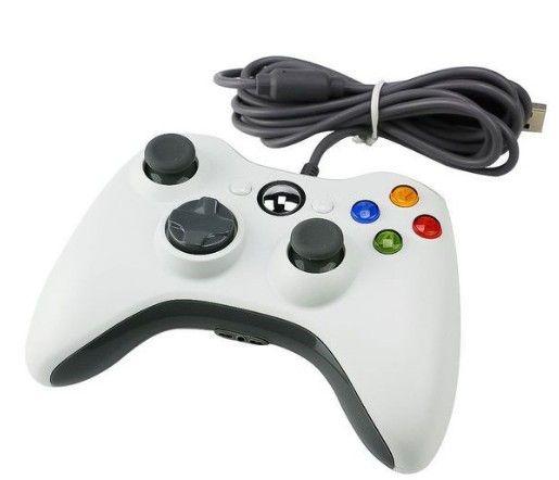 Xbox 360 Gamepad проводной, джойстик для ПК Windows (белый)