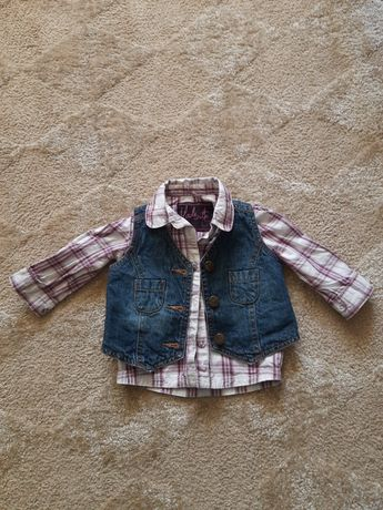 Комплект рубашка и жилетка р.68