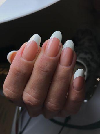 Наращивание коррекция ногтей любой сложности.Выкладной френч .Обучение