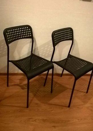 Krzesło do kuchni, jadalnie 2 szt czarne, siwe, białe czerwone