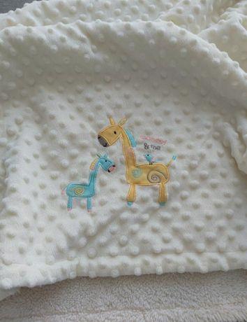 Kocyk niemowlecy 105x80 cm minky
