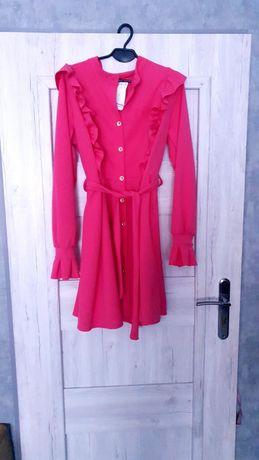 Sukienka różowa L