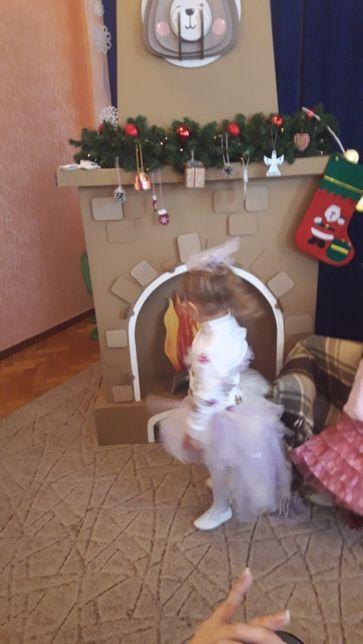 Платье снежинка новогодний костюм