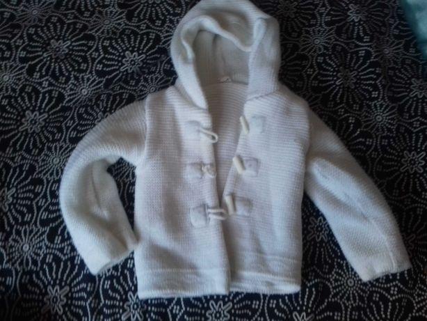 sweterek do chrztu r 80 cm