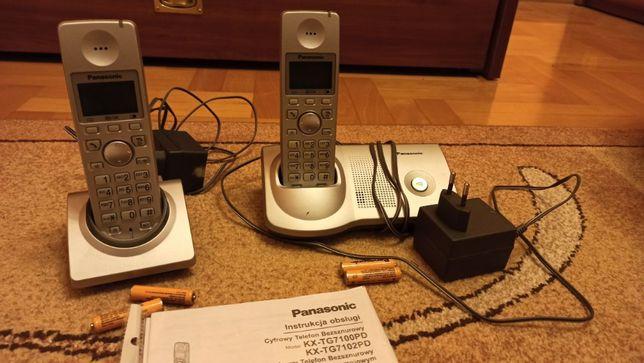 Telefon stacjonarny Panasonic KX-TG7100PD - bezprzewodowy