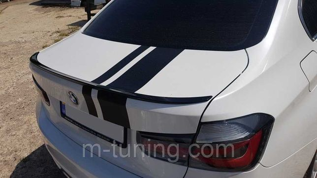 Спойлер BMW F30 тюнинг сабля M3 \ M performance (пластик, черный)