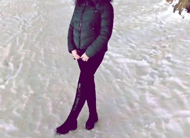 Зимові чоботи шкіра.Женские зимние сапоги кожа.Ботфорди.Ботфорды.