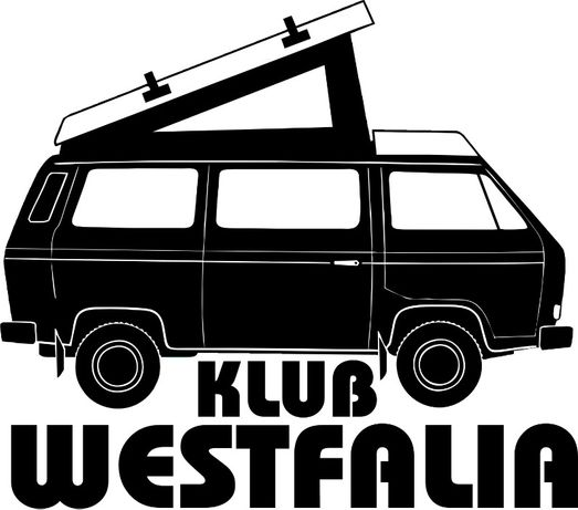 N653-naklejka WV T3 Westfalia klub
