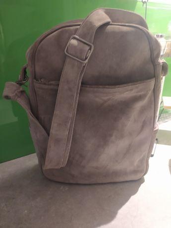 torba torebka organizer duża pojemna pakowna listonoszka natural skóra