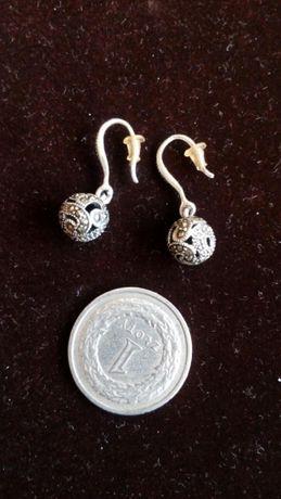 Kolczyki srebro 925, markazyty