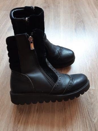 Ботинки демисезонные кожа для девочки Topitop