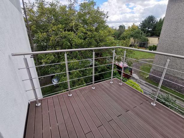 Balustrada Balkonowa Schody Ze Stali Nierdzewnej