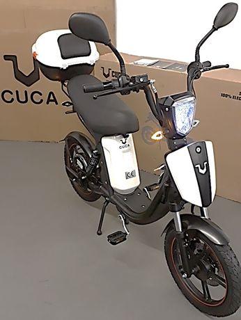 Bicicleta elétrica citadina 2lug. para via pública, CUCABike (crédito)