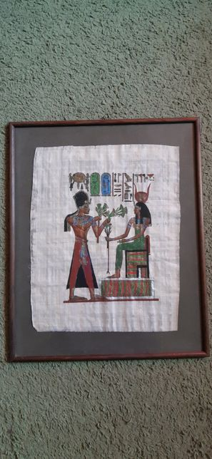 Papirus w ramce.