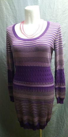 Sukienka bawełniana ze srebrną nitką, 42-44