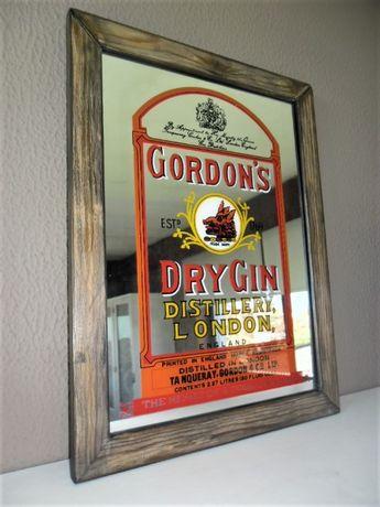 Espelho Vintage Publicitário Gin Gordon's