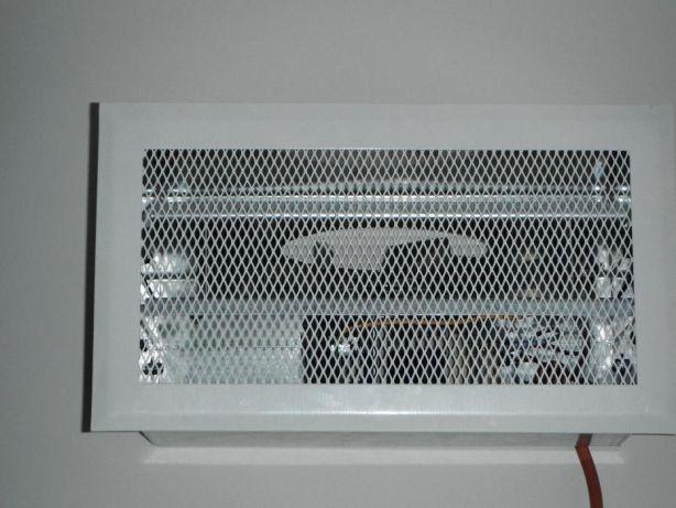Ventilador para lareira com recuperador convencional de calor a lenha