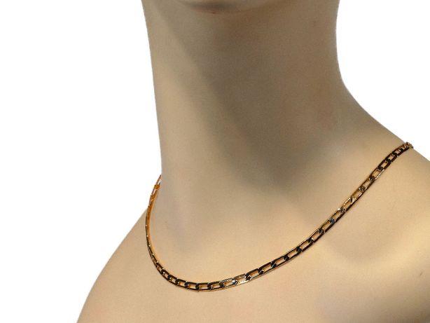 Złoty Łańcuszek Stal Piękny Splot 45cm