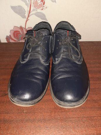 Туфли кожаные подростковые школьные