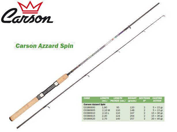 Cana de pesca Carson 1.80m 5-15g carbono