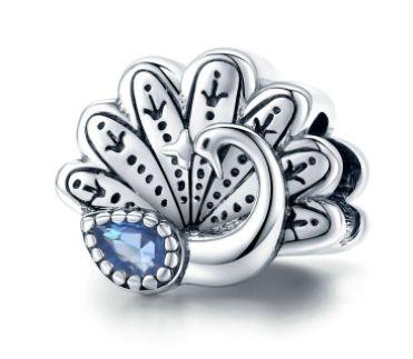 Srebrny charms paw ptak koralik do bransoletki modułowej Pandora
