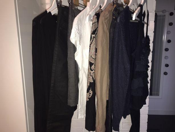 Zestaw ubrań basic 36 COS, H&M, Pepe Jeans mega paka czarne granatowe