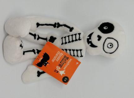 игрушка мягкая хелловин человек скелет белый круто!очень фирменный