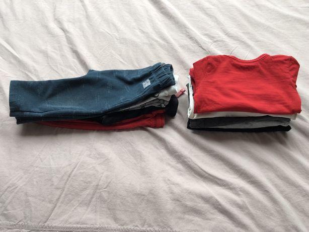 zara h&m reserved ciuszki body spodnie dzieciece 74-80 11 sztuk