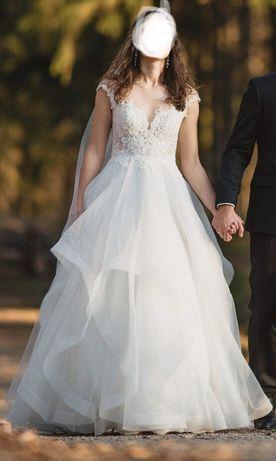 Suknia ślubna, wesele, rozm. S XS, 176 cm