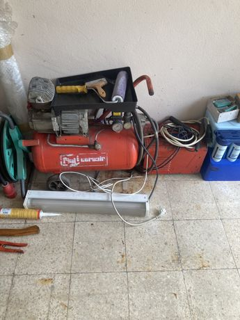 Compressor, cabos electricos, ferramentas