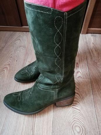 Сапоги ботинки 40 замш
