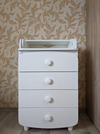Пеленальный комод Верес 600, белый