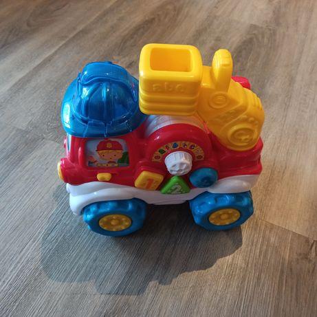 Samochód po polsku i angielsku, wesołe przyciski