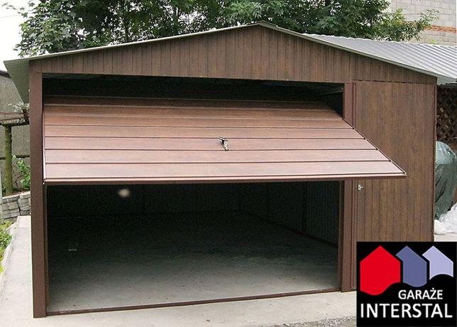 Garaż Blaszany 4x6+dodat.drzwi wejściowe Garaże Blaszane MONTAŻ GRATIS