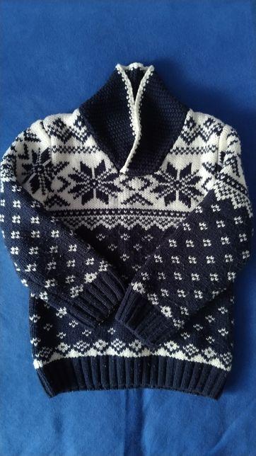 Sweter chłopięcy 116 cm