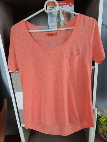 T shirt jasno pomarańczowy S 36