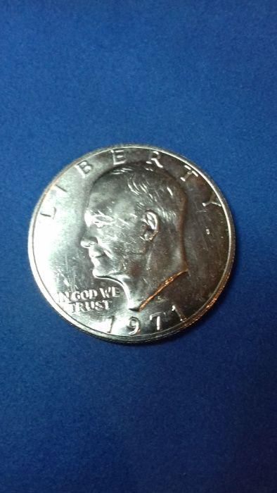 kolekcjonerski amerykański srebrny dolar z 1971 Dwight Eisenhower Warszawa - image 1
