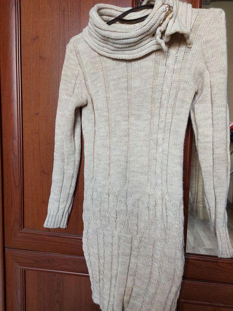 Теплое платье зимнее