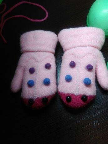 Рукавички для дівчинки рукавиці