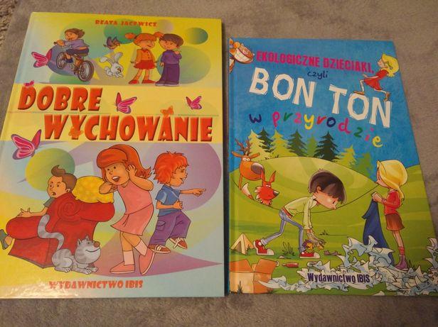 2x książki Ekologiczne dzieciaki oraz Dobre wychowanie