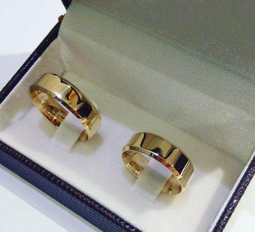 Wyjątkowa Piękny Komplet Złotych Obrączek Ślubnych